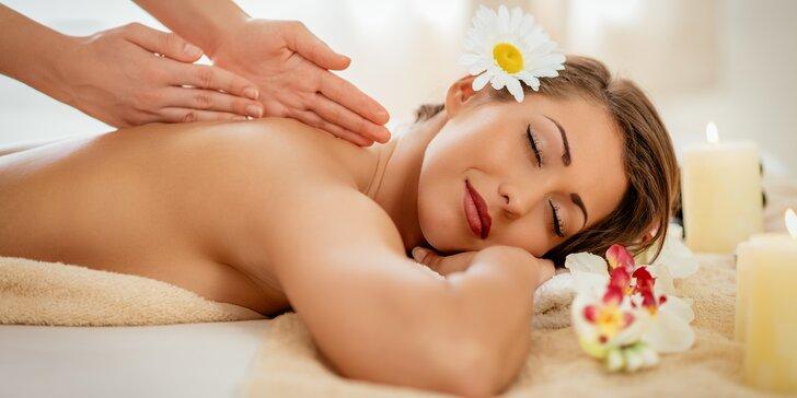 Výběr ze 6 energizujících masáží i s peelingem či zábalem