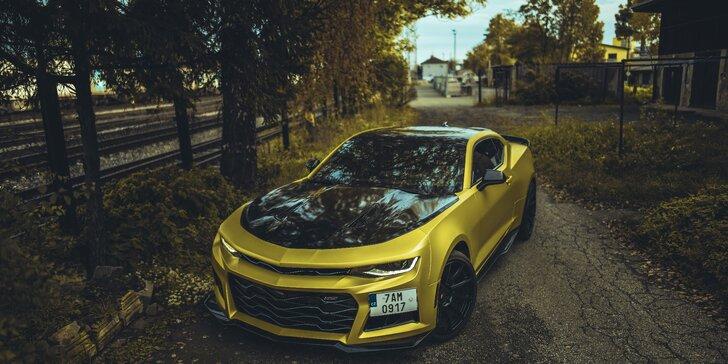Pronájem supersportu Chevrolet Camaro SS 6.2 až na 24 hodin s neomezenými km