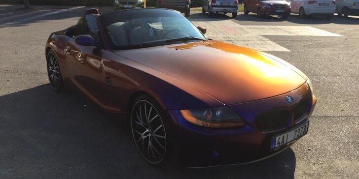 Pronájem kabrioletu BMW Z4 na jeden den, víkend nebo celý týden