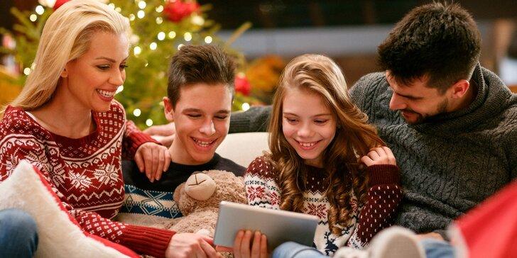 Zahrajte si z pohodlí domova: online hra Vánoční šifrovačka pro 2–5 hráčů