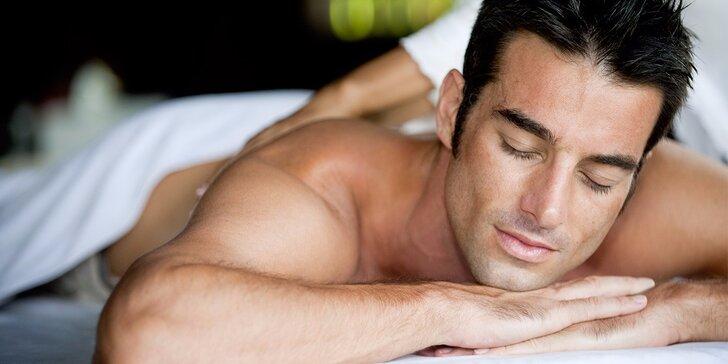 Luxusní balíček pro muže: masáž a zábal podle výběru v salonu Diamond