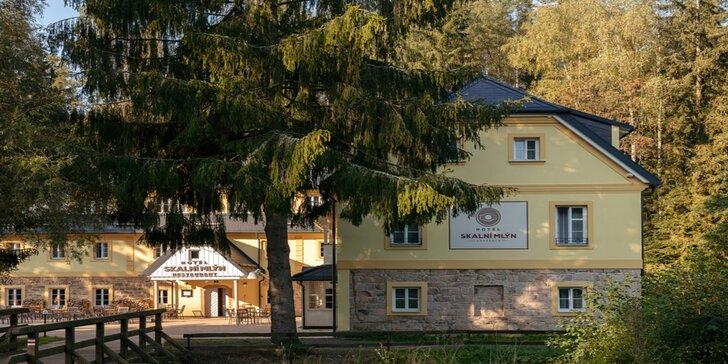 Za krásami Adršpachu: pobyt v historické budově mlýna z 18. století se snídaní
