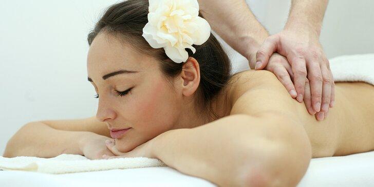 Hodinový odpočinek: relaxační olejová masáž dle vlastního výběru
