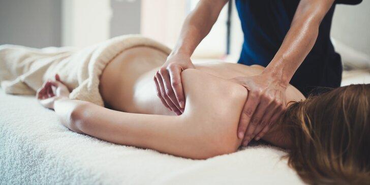 Zdravotní, hloubková, relaxační či těhotenská masáž: 60 nebo 75 min. i permanentka