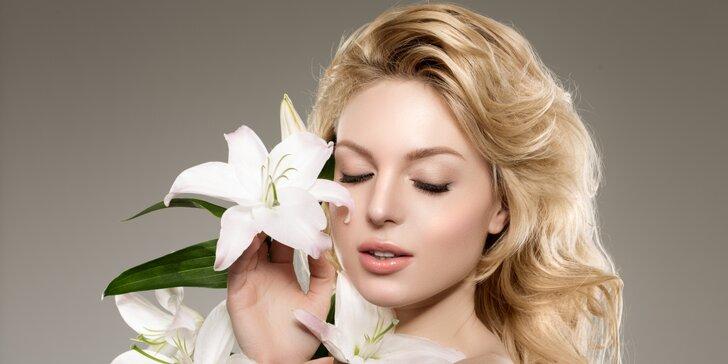 Kosmetická masáž obličeje, ošetření pleti špachtlí imezoterapie rtů