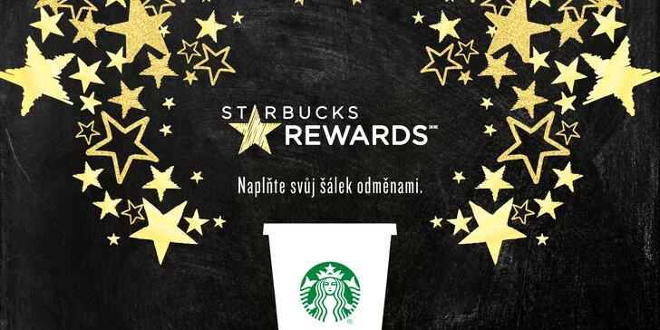 Digitální věrnostní Starbucks Card s kreditem 300 Kč a nápoj Grande