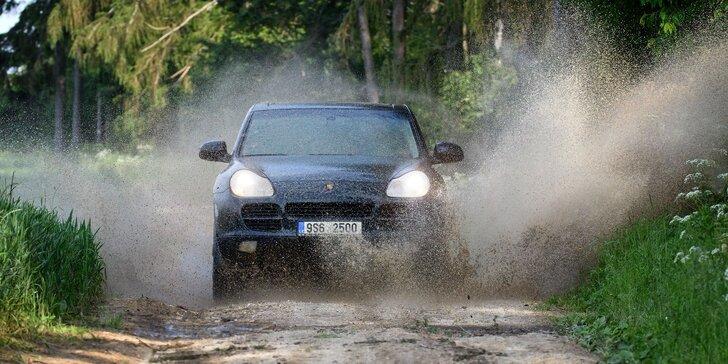 Řidičem Porsche Cayenne S 350 PS: terénní projížďka na 15 až 60 minut vč. pohonných hmot