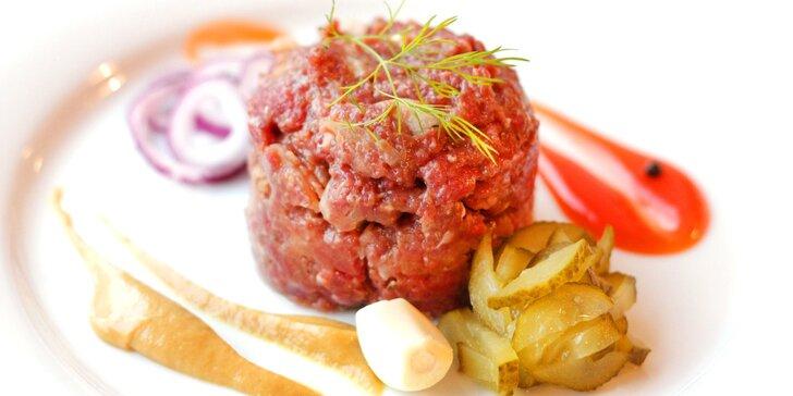 Masové potěšení: namíchaný tatarák z hovězího masa, 300 nebo 500 g