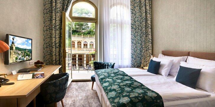 Relaxace v Karlových Varech: hotel přímo u kolonády, nové wellness centrum, procedury a polopenze