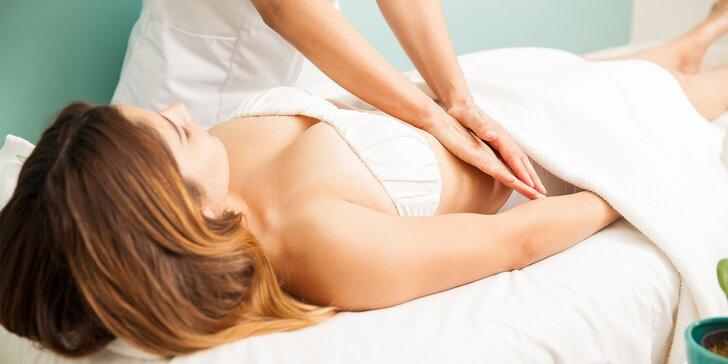 Manuální lymfatická masáž partie dle výběru: krk, nohy, ruce, záda i celé tělo