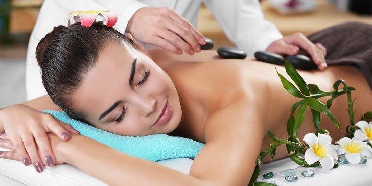 Uvolnění a harmonie: masáž lávovými kameny na 60 nebo 90 minut