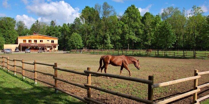 Chatičky pro páry i rodiny uprostřed stylového ranče Bučiska