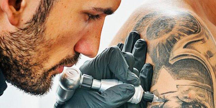 Zbrusu nové tetování s vaším vysněným motivem o velikosti 10 x 10 cm
