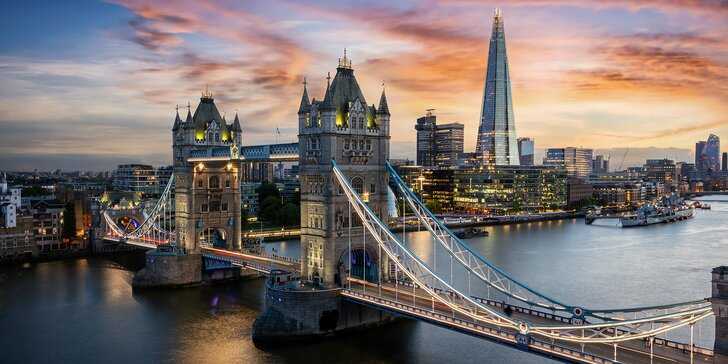 Jaro v Londýně: ubytování na 3 noci, doprava letadlem a 4 druhy zájezdu