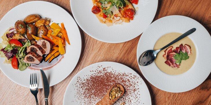 Výběr ze dvou degustačních menu pro dva ve Fresca restaurant: fettucine, panenka i limetkový dort
