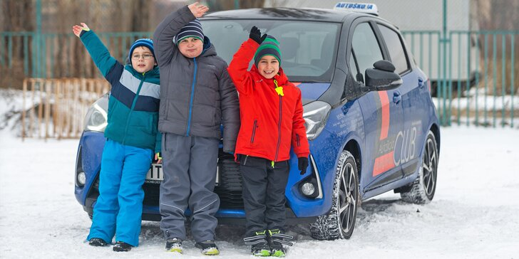Autoškola pro děti od 5 do 18 let: 20–40 minut jízdy na cvičné ploše