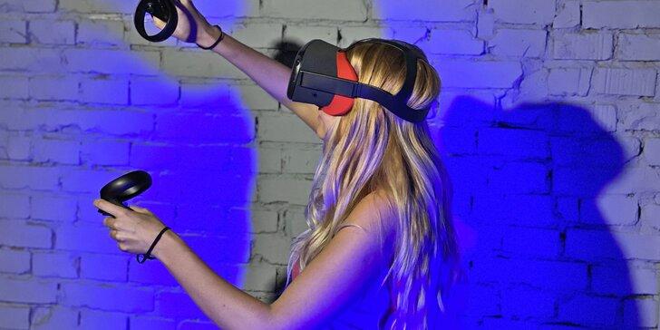 50 - 100 minut zábavy pro 2-4 hráče: virtuální realita, střelecký simulátor a postřehové hry