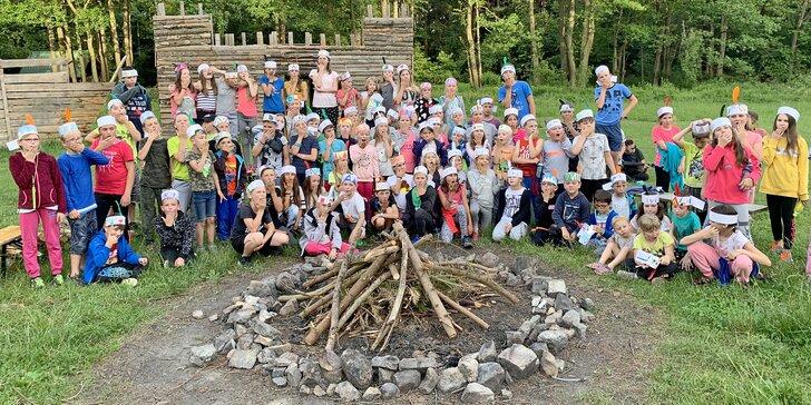 Letní tábory pro děti: doprava pod Brdy, ubytování na 12 nocí, strava 6× denně, 4 různé termíny i příběhy