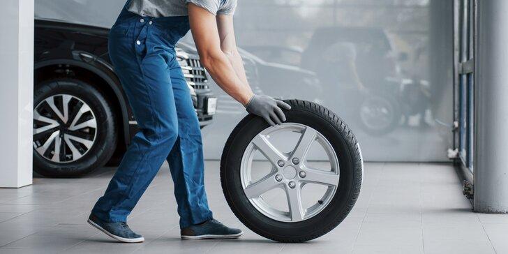 Kompletní přezutí pneumatik pro všechny typy vozů včetně nahuštění