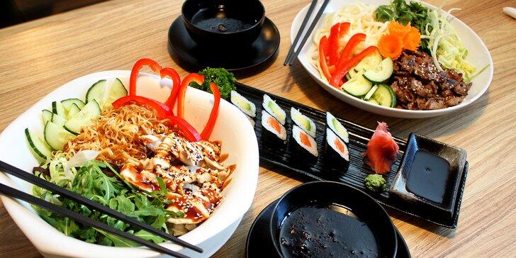 Ve dvou na asijské dobroty do oblíbené restaurace: sushi a nudle