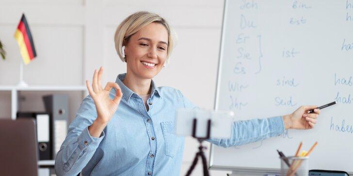 Online skupinové lekce jazyka s profesionálním lektorem: španělština, němčina nebo ruština pro 1 osobu