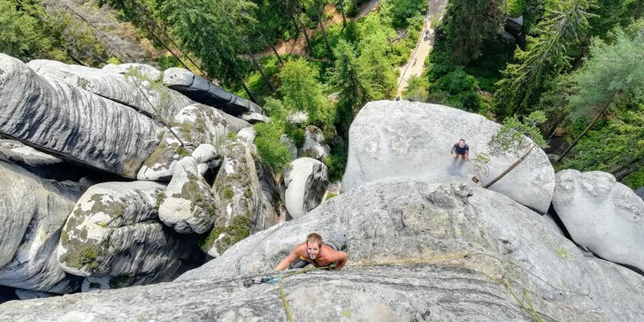 Jednodenní nebo dvoudenní kurz lezení v Adršpachu nebo Českém ráji pro 1 či 2 osoby