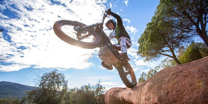 2hod. trénink motocyklového trialu i se zapůjčením motorky pro 1 osobu