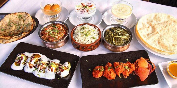 Pochutnejte si na indické kuchyni: degustační menu s kuřecím i jehněčím pro dva