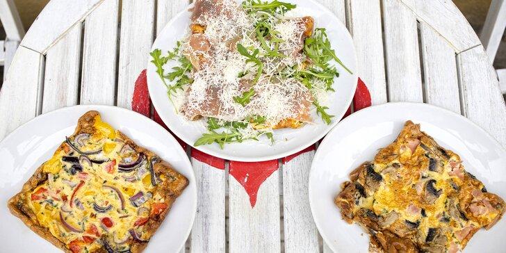 Italská Frittata podle výběru z 8 druhů a tiramisu pro 1 i 2 osoby