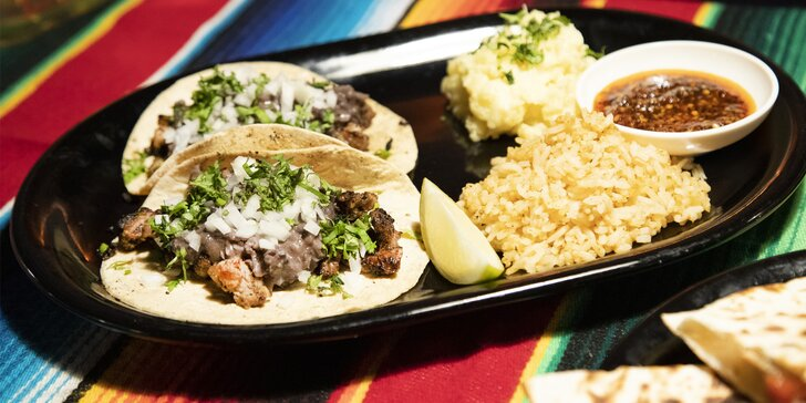 Mexické jídlo podle výběru až pro 2 osoby: tacos, burros i quesadilla