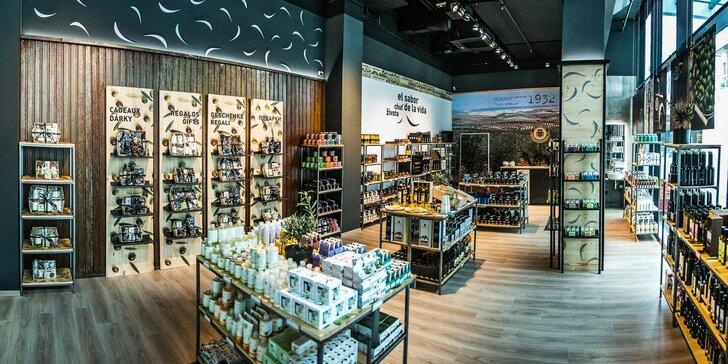 Otevřený voucher na nákup v La Chinata: kosmetika, delikatesy i dárky