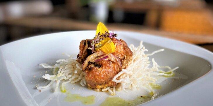 Mezinárodní či indické degustační menu: terina z kachních jater i krůtí prsa