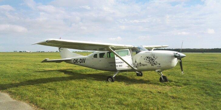 Vyhlídkový let nad Pálavou pro 1 nebo 2 osoby v délce 45 minut