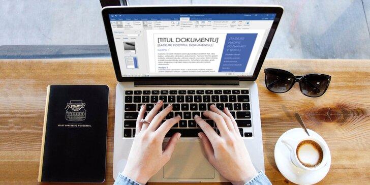 Online kurz Wordu s neomezeným přístupem a certifikátem
