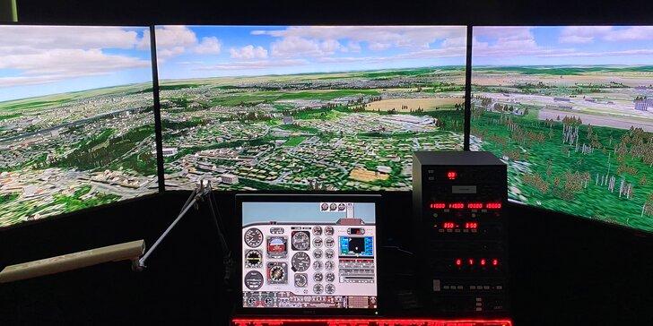 Zkuste si být pilotem: 60 minut řízení letadla se simulátorem Volatus