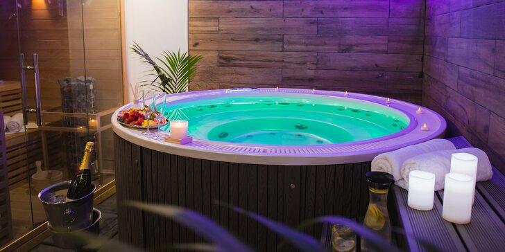 VIP relax v privátním wellness: vířivka, finská sauna i občerstvení