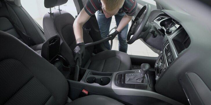 Péče o interiér vozu vč. tepování: 2 programy na výběr