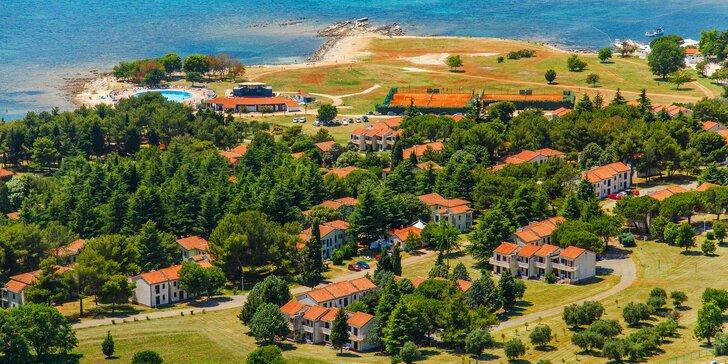 Apartmány na Istrii: ubytování na pláži, s bazény a sportovním vyžitím
