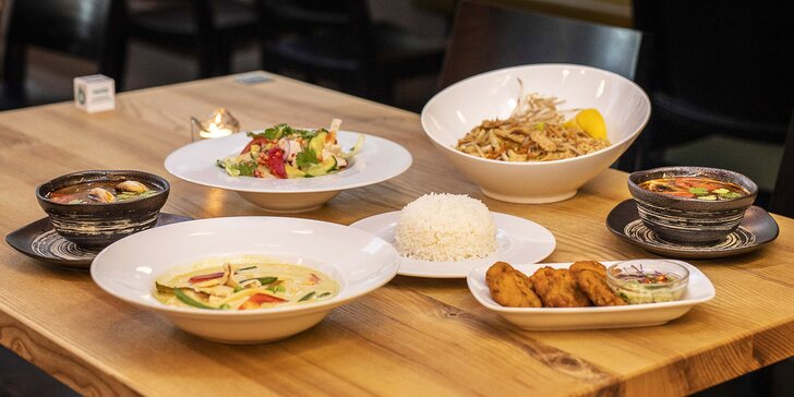 Autentická thajská kuchyně: 3chodové menu pro dva dle výběru
