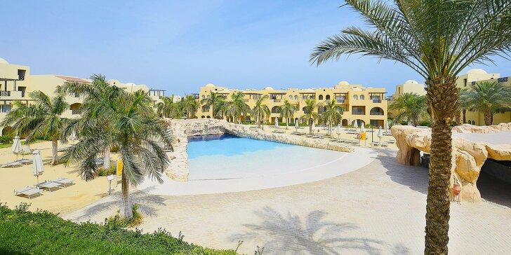 Hurghada v Egyptě: 4* resort u pláže, s bazény a all inclusive, letenka a česky hovořící delegát