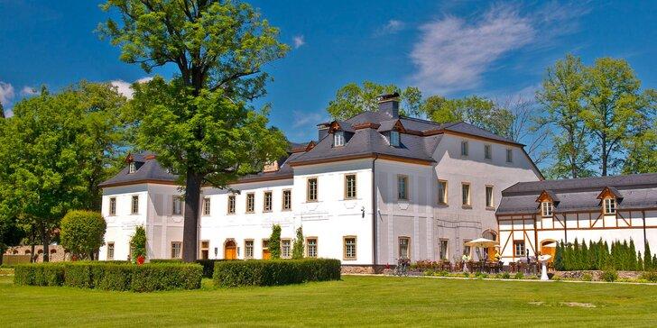 Luxusní pobyt v 5* polském hotelu Pałac Pakoszów: jídlo, neomezený vstup do spa a fitness