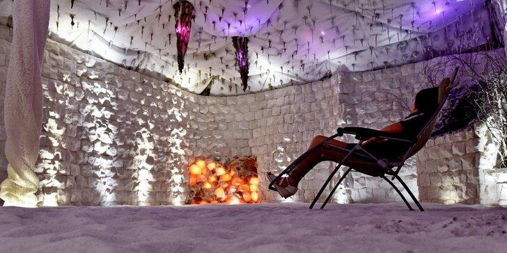 Vstup do solné jeskyně na 45 minut nebo noční pobyt v solné jeskyni