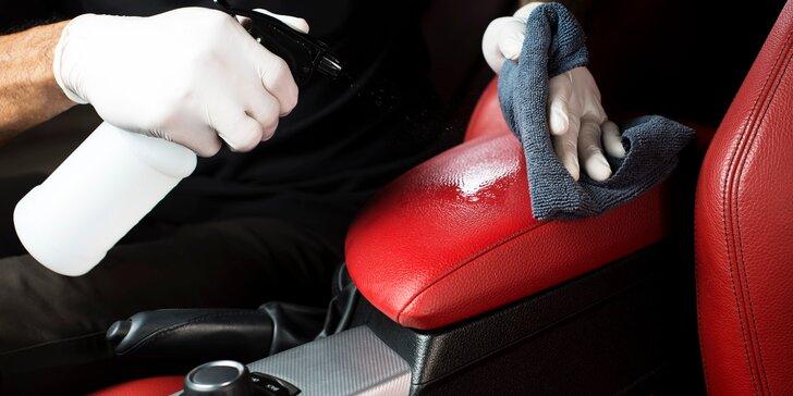Čištění interiéru vozu vč. dezinfekce madel a dotykových ploch: u vás doma nebo na smluveném místě
