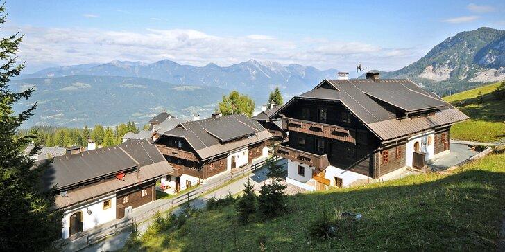 Aktivní dovolená v rakouských Alpách: plná penze vč. nápojů a wellness, dítě zdarma