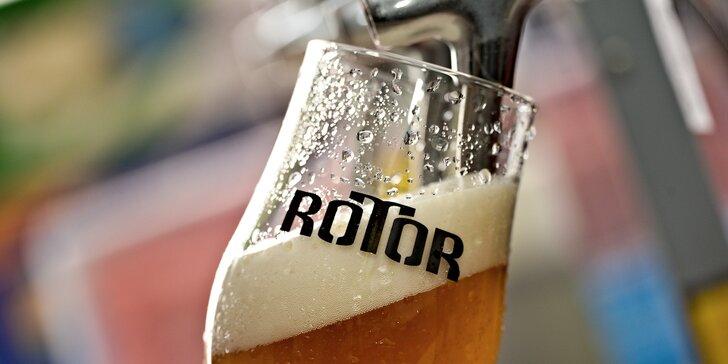 Hodinová exkurze v pivovaru Rotor i s ochutnávkou tří vzorků piva dle vlastního výběru