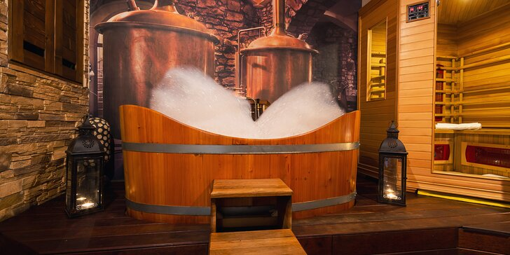 3 hodiny blaha pro dva: aroma sauna, relaxační masáž, koupel i občerstvení