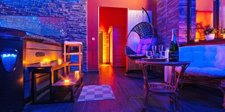 Víkendový relax ve dvou: 2 hodiny v privátním wellness centru s 3pokojovým apartmá