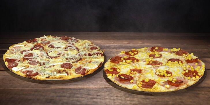 Pořádné jídlo: dvě Maníkovy pizzy z pobočky západ o průměru 32 cm podle výběru z 28 druhů