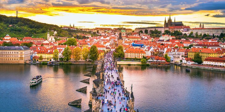 3hodinová komentovaná procházka historickým centrem Prahy pro 1 i 2 osoby
