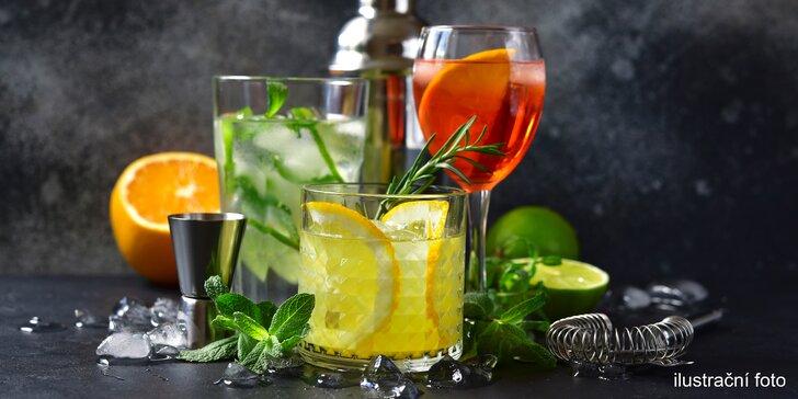 Míchané drinky: Gin & Tonic, Aperol Spritz, Hugo Spritz nebo Limoncello